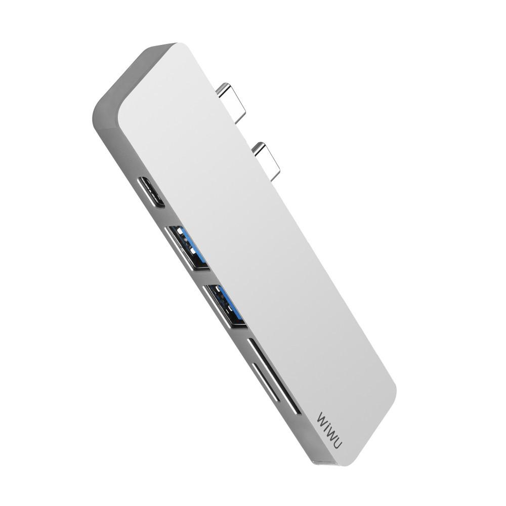 USB-C Хаб WIWU T8 Lite Type C converter Sliver