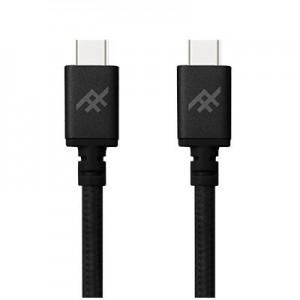 Купить Плетеный кабель с алюминиевым коннектором iFrogz Unique Sync Premium - USB Type C To USB C Cable — 1.8m Black (IFUSCC-BK3)