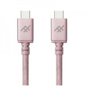 Купить Плетеный кабель с алюминиевым коннектором iFrogz Unique Sync Premium - USB Type C To USB C Cable — 1.8m Rose Gold (IFUSCC-RG3)