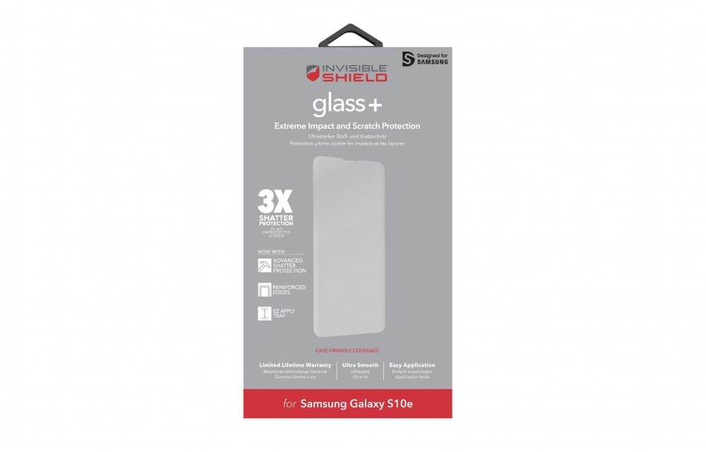 Защитное стекло InvisibleShield Glass+ Samsung S10e-Screen Black (200102654)
