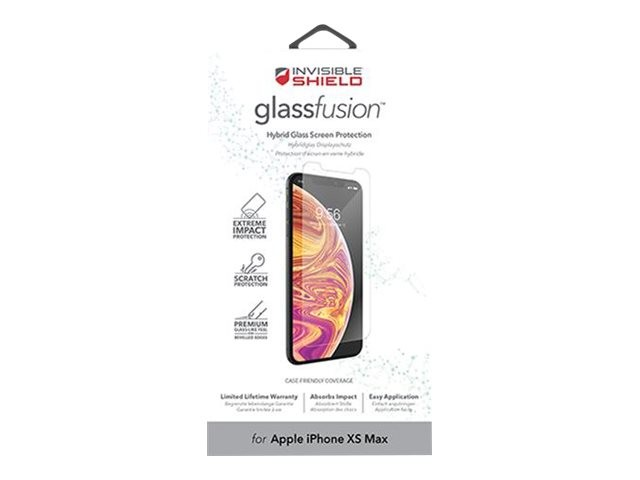 Защитное стекло InvisibleShield GlassFusion-Apple-iPXS Max-Screen Clear (200302789)