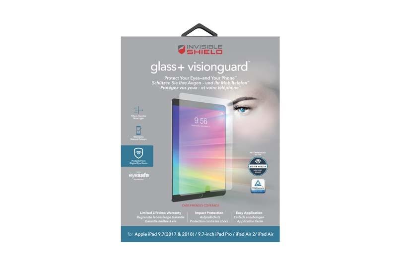 Защитное стекло InvisibleShield Glass+ VisionGuard-Apple-iPad Air/Air 2, iPad Pro 9.7, iPad 2017/2018-Screen Clear (200102486)