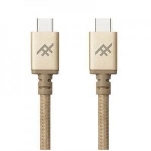 Купить Плетеный кабель с алюминиевым коннектором iFrogz Unique Sync Premium - USB Type C To USB C Cable — 1.8m Gold (IFUSCC-GD3)