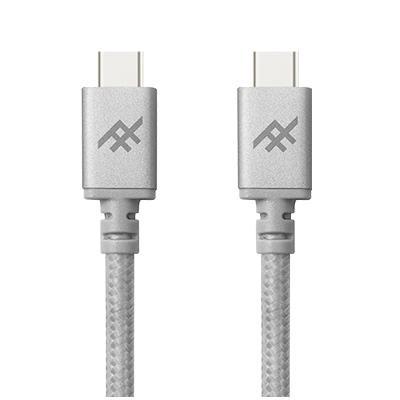 Плетеный кабель с алюминиевым коннектором iFrogz Unique Sync Premium - USB Type C To USB C Cable — 1m Silver (IFUSCC-SL1)