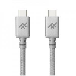 Купить Плетеный кабель с алюминиевым коннектором iFrogz Unique Sync Premium - USB Type C To USB C Cable — 1.8m Silver (IFUSCC-SL3)