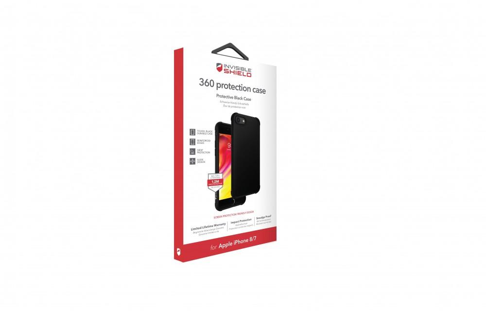 Защитное стекло + чехол InvisibleShield 360 Protection Black Case - Apple iPhone 8/7 Black (202002463)