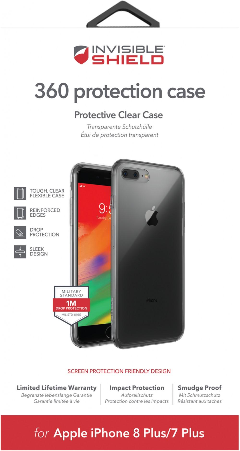 Защитное стекло + чехол InvisibleShield 360 Protection Case-Apple -iPhone 8/7 Plus Clear (200102294)