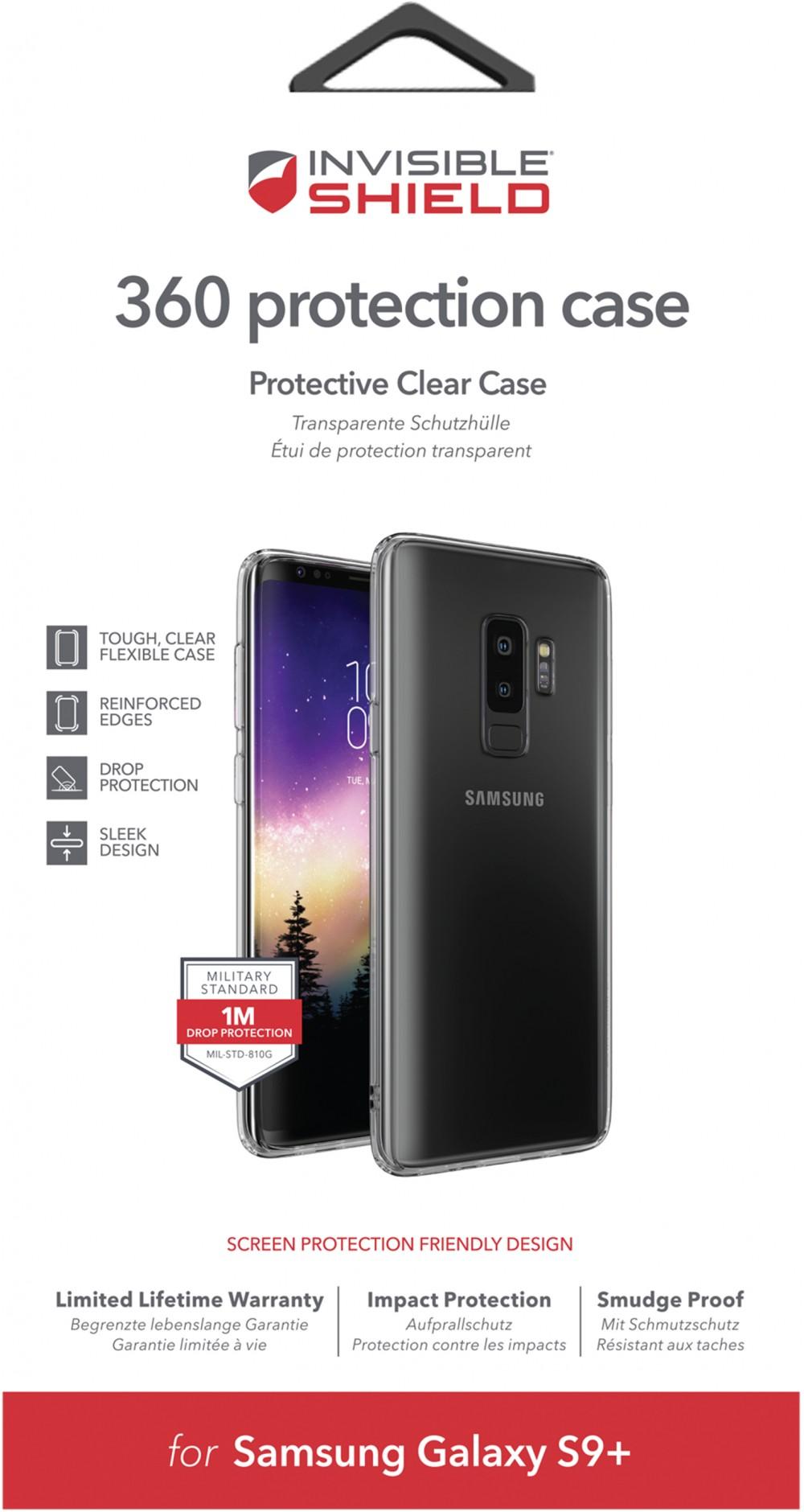 Защитное стекло + чехол InvisibleShield 360 Protection Case-Samsung Galaxy-S9 Plus Clear (200102292)