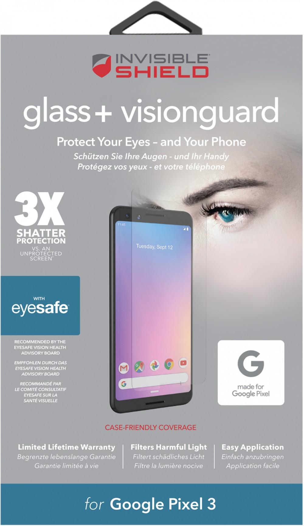 Защитное стекло InvisibleShield Glass+ VisionGuard - Pixel 3 -Screen Clear (200102301)