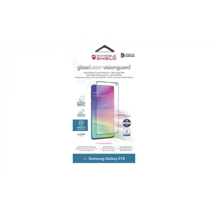 Защитное стекло InvisibleShield GlassFusion VisionGuard Samsung-Galaxy S10-Screen Clear (200303049)