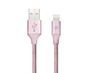Купить Плетеный кабель с алюминиевым коннектором iFrogz Unique Sync Premium - Lightning Cable — 3m Rose Gold (IFUSLC-RG3)