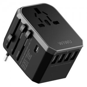 Купить Универсальное зарядное устройство WIWU Universal Adapter Black (UA301)