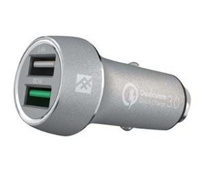 Купить Быстрая автозарядка iFrogz Unique Sync - Premium Dual 2.4 USB Car Charger с QC 3.0 Silver (IFUSCH-SV0)