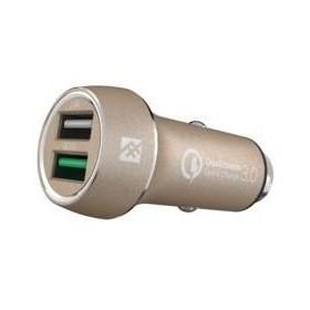 Быстрая автозарядка iFrogz Unique Sync - Premium Dual 2.4 USB Car Charger с QC 3.0 Gold (IFUSCH-GD0)
