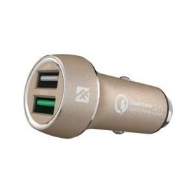 Купить Быстрая автозарядка iFrogz Unique Sync - Premium Dual 2.4 USB Car Charger с QC 3.0 Gold (IFUSCH-GD0)