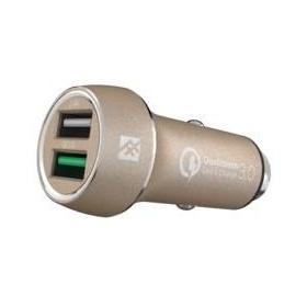 Купить Быстрая автозарядка iFrogz Unique Sync - Premium Dual 2.4 USB Car Charger с QC 3.0 Gold (IFUSCH-GD0)