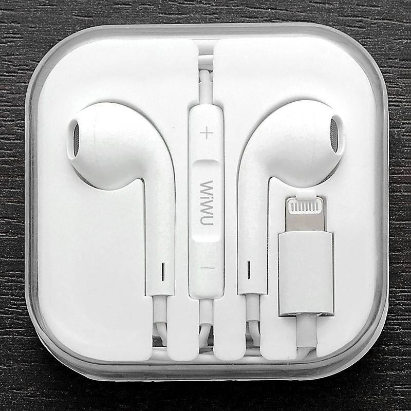 Наушники WIWU Earbuds Lightning Connector C100 White (C100)