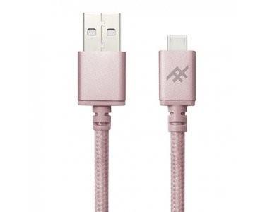 Плетеный кабель с алюминиевым коннектором iFrogz Unique Sync Premium - Micro USB Cable — 3m Rose Gold (IFUSMU-RG3)