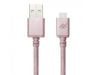 Купить Плетеный кабель с алюминиевым коннектором iFrogz Unique Sync Premium - Micro USB Cable — 3m Rose Gold (IFUSMU-RG3)