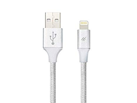 Плетеный кабель с алюминиевым коннектором iFrogz Unique Sync Premium - Lightning Cable — 3m Silver (IFUSLC-SL3)