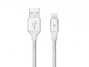 Купить Плетеный кабель с алюминиевым коннектором iFrogz Unique Sync Premium - Lightning Cable — 3m Silver (IFUSLC-SL3)