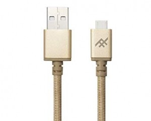 Купить Плетеный кабель с алюминиевым коннектором iFrogz Unique Sync Premium - Micro USB Cable — 3m Gold (IFUSMU-GD3)