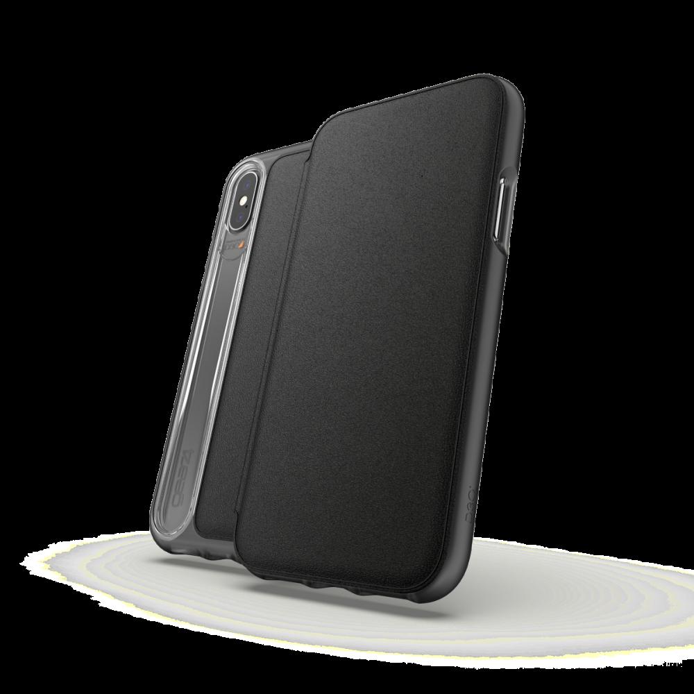 Чехол-книжка GEAR4 Oxford Leather for iPhone Xs Black (ICXOXBLK)