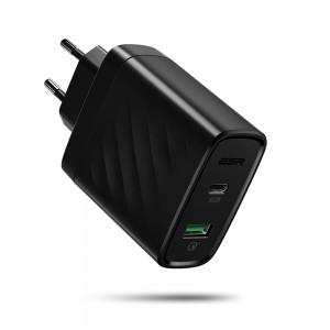 Купить Быстрое зарядное устройство ESR PD Charger EU Black 36W 1PD+1QC
