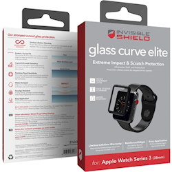 Купить Защитное стекло InvisibleShield Glass Curve Elite-Apple-Watch (38mm)-Series 3-Full Screen Black (200101818)