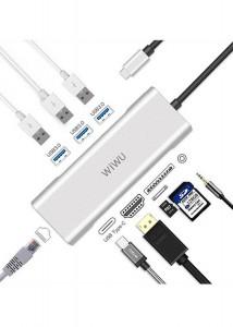 Купить USB-C Хаб WIWU Apollo A931HRT Sliver