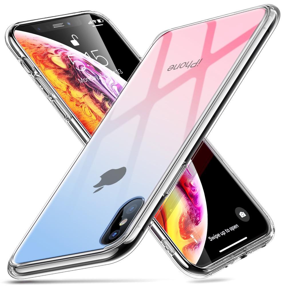 Стеклянный чехол ESR Mimic Red+Blue iPhone XS/X