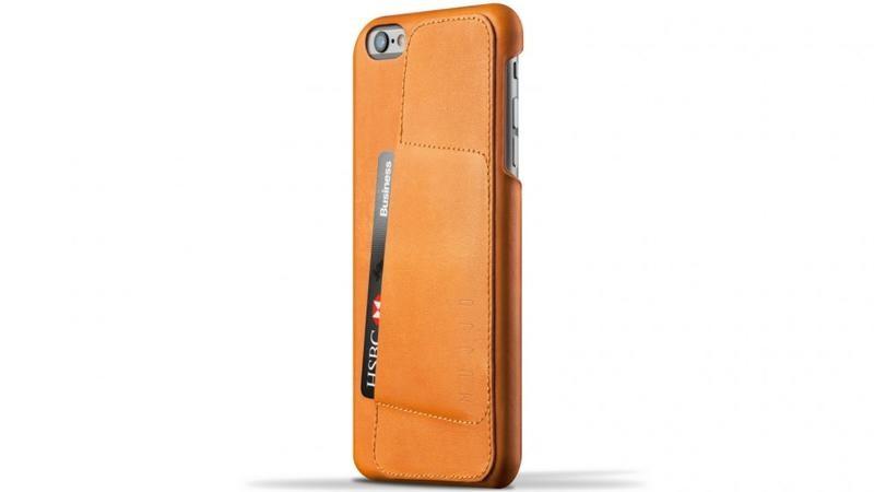Кожаный чехол с отделением для карт MUJJO Leather Wallet Case 80° iPhone 6 Plus/6s Plus Tan (MUJJO-SL-084-TN)