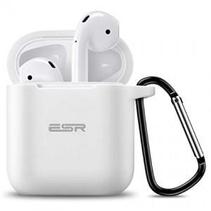 Купить Силиконовый чехол с карабином ESR Bounce White Airpods