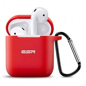 Купить Силиконовый чехол с карабином ESR Bounce Red Airpods