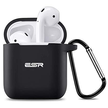 Силиконовый чехол с карабином ESR Bounce Black Airpods