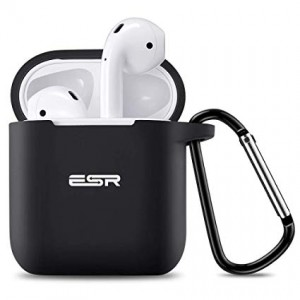 Купить Силиконовый чехол с карабином ESR Bounce Black Airpods