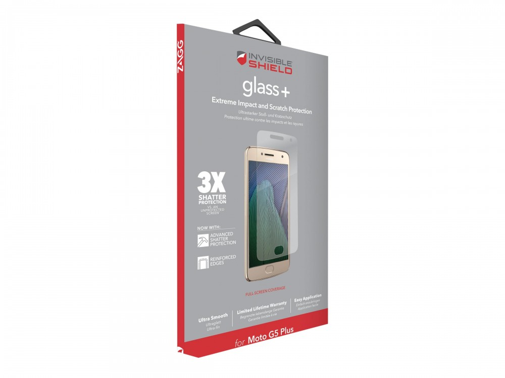 Защитное стекло InvisibleShield Glass+ Lenovo Moto G5 Plus - Screen Clear (M5PLGS-F00)