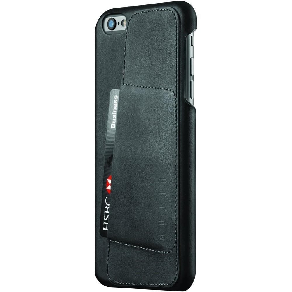 Кожаный чехол с отделением для карт MUJJO Leather Wallet Case 80° iPhone 6 Plus/6s Plus Black (MUJJO-SL-084-BK)