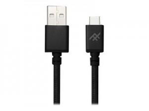 Купить Плетеный кабель с алюминиевым коннектором iFrogz Unique Sync Premium - USB A To USB C Cable — 1.8m Black (IFUSAC-BK2)