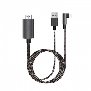 Купить Lightning-конвертер WIWU iPhone HDMI Cable Phone to TV Black (X7)
