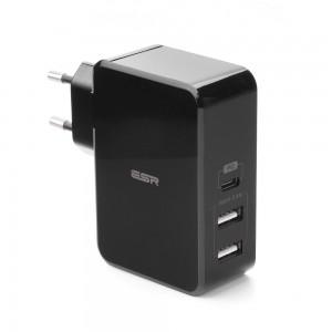 Купить Быстрое зарядное устройство ESR PD Charger EU Black 41W  1PD+2USB