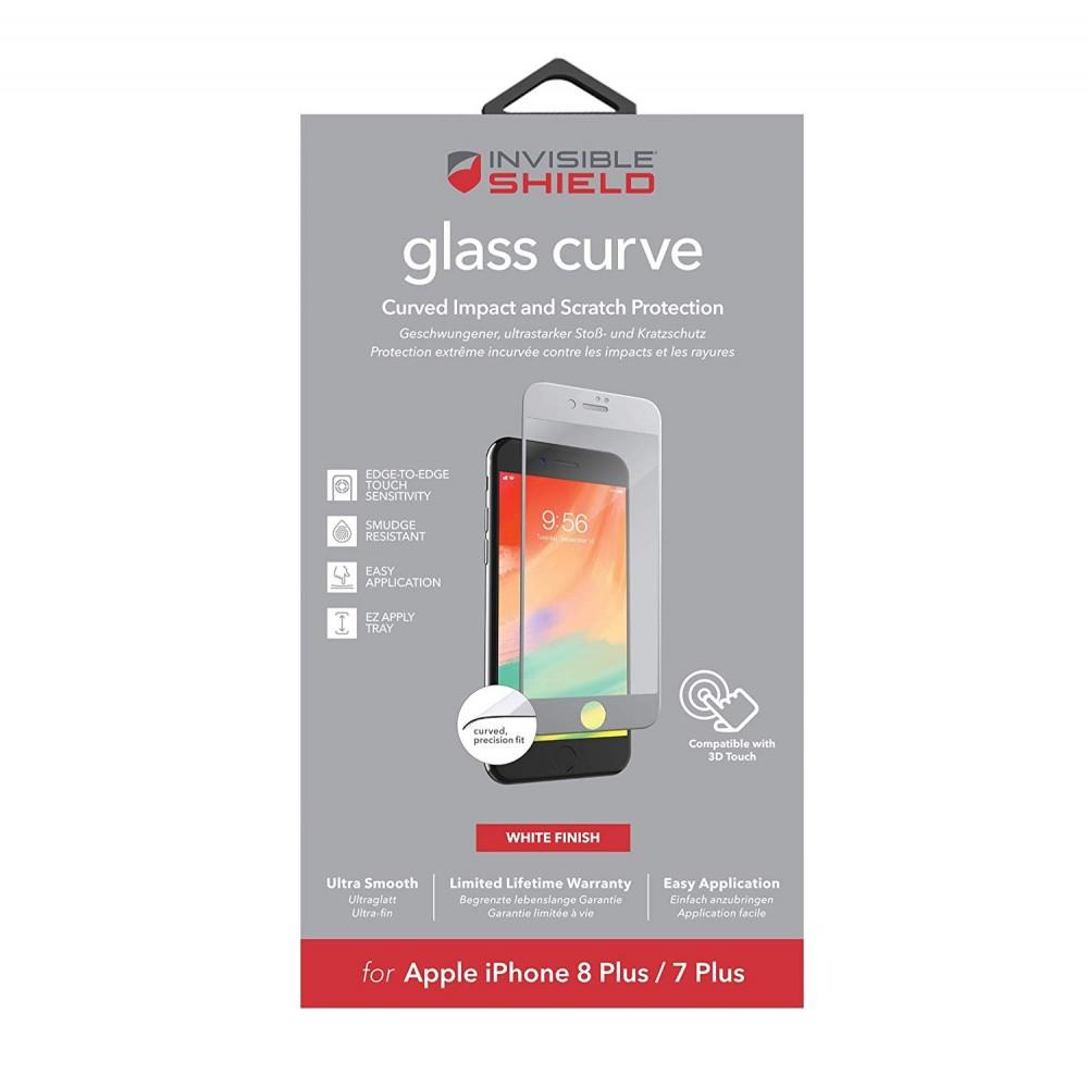 Защитное стекло InvisibleShield Glass Curve - Apple iPhone 8 Plus / 7 Plus - Screen - White White (200101461)