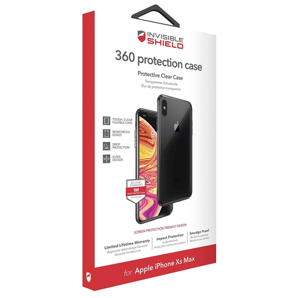 Защитное стекло + чехол InvisibleShield 360 protection Case - Apple iPhone Xs Max Clear (200301923)