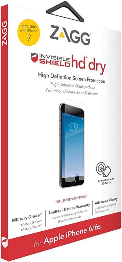 """Защитная пленка InvisibleShield HD Dry - iPhone 7 4.7"""" Screen Clear (IP7HDS-F00)"""