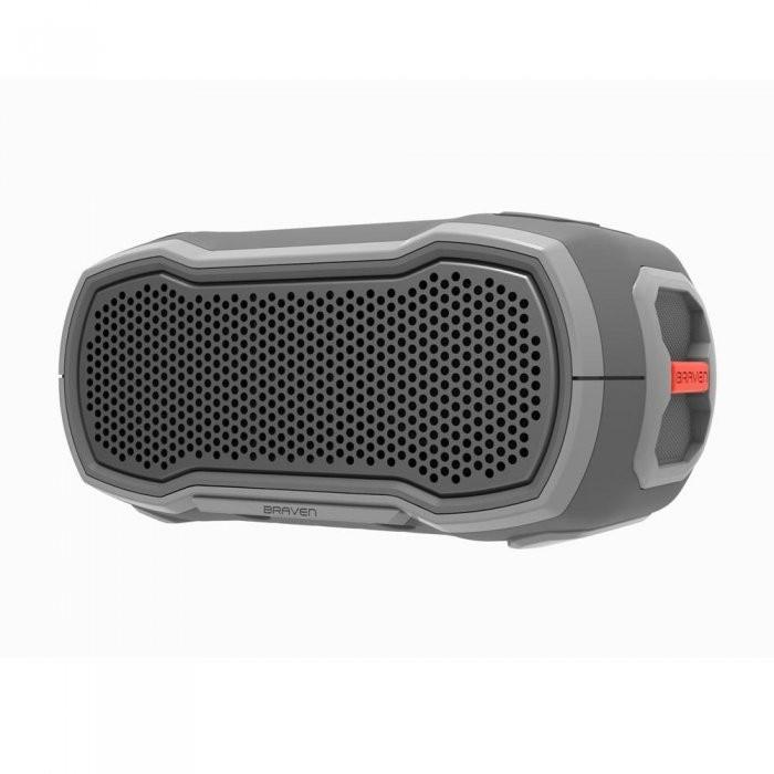 Водонепроницаемая портативная колонка Braven Ready Solo Outdoor Waterproof Speaker Grey/Grey/Orange (BRDYSOLOGGO)