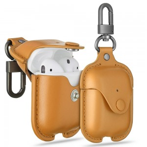 Купить Кожаный чехол с карабином ESR Oxford Leather Case Brown Airpods