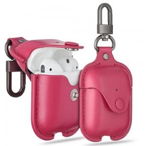 Купить Кожаный чехол с карабином ESR Oxford Leather Case Pink Airpods