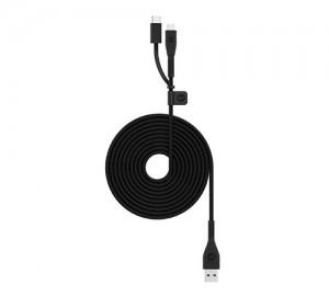 Купить Универсальный кабель mophie PRO|USB2.0 A-C Switch-tip Micro|2m|Black Black (3615_PRO-2N1-2.0-AC-2M-BLK)