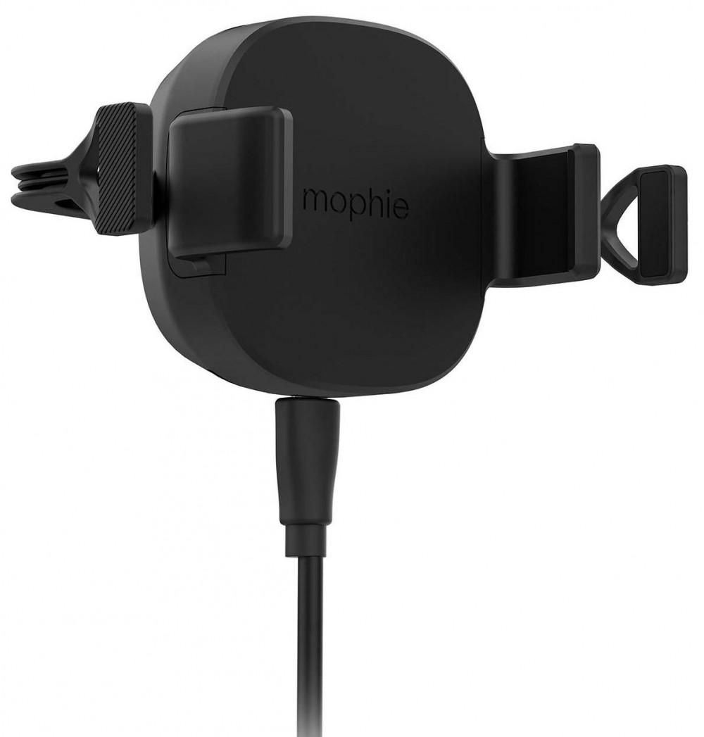 Автодержатель с беспроводной зарядкой mophie Universal Wireless-Vent Mount-International Black (409901475)
