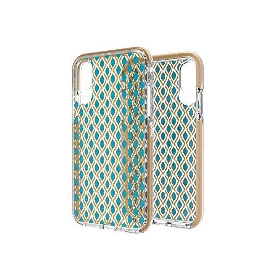 Чехол GEAR4 Victoria iPhone X (Geo Teal Gold) (IC8VICGTG)